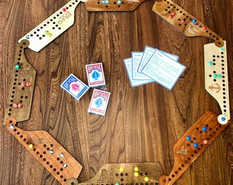 Jokers and Marbles Game, 4-8 Players, Pegs and Jokers, Family Game Night, Customizable, Personalized