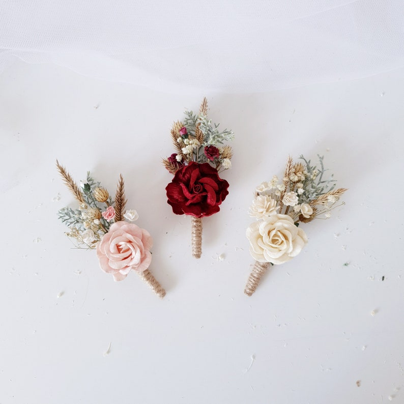 Burgundy wedding Burgundy flower hair comb Bridal flower hair comb Flower Hair comb Wedding flower hair clip