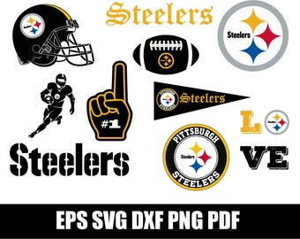 Pittsburgh Steelers SVG Football Svg Files Silhouette Cut File Vector Logo Instant Download Cricut