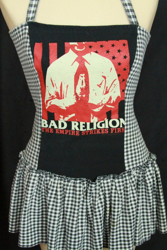 Bad Religion Dress M - PUNK Gingham black white re