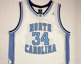 7fb65bfa8 1990s Vintage North Carolina Tar Heels Basketball Jersey - 90 s Tar Heels  Jordan Nike Jersey - 90s Hip Hop Clothing