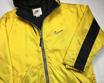 2fea31eadf2f 90s Vintage NIKE Team Sports Trench Jacket - Nike Heavy Winter Snow Jacket    Lined Rain Coat