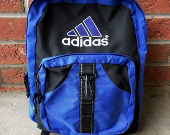 024a68355c96 1990s Vintage Adidas Backpack - 90s Adidas Knapsack School Bag - 90 s Hip  Hop Clothing - FREE SHIPPING