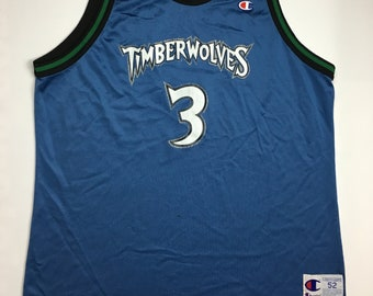 16636ac0cc2 1990s Vintage Minnesota Timberwolves Champion Basketball Jersey - 90 s Timberwolves  Jersey - 90s Hip Hop Clothing - Retro Streetwear