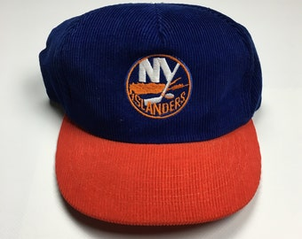 check out 37ce5 8398f 90s Vintage NY Islanders Corduroy Hat   1990s Ted Fletcher New York  Islanders Snapback Hat NHL Ice Hockey Team Hat - 90 s Hip Hop Clothing