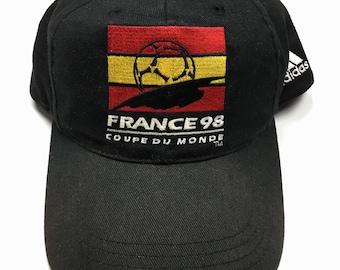 79273f3f7d3 Vintage 1998 Adidas World Cup Team France Snap Back Hat