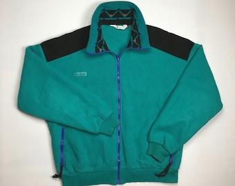 67a2f8aeee5 1990s Vintage Columbia Teal Fleece Sweater - 90's Columbia Sportswear  Turtle Neck Fleecy Sweatshirt - 90s Clothing Streetwear Hypebeast