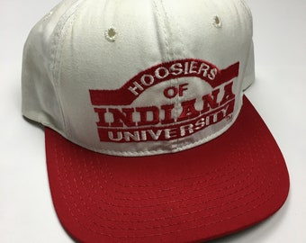 best authentic 2ab66 2c534 90s Vintage Hoosiers Of Indiana University Snap Back Hat   1990s University  Varisty Team Baseball Hat - 90s Clothing Hypebeast Streetwear