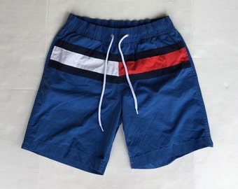030ca2922d798 1990s Vintage Tommy Hilfiger Bathing Suit Shorts - 90s Tommy Hilfiger Logo Swim  Trunks - 90's Hip Hop Clothing - FREE SHIPPING