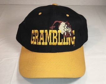 90s Vintage Taz Looney Tunes Snapback Hat   1990s Grambling Taz Devil  Baseball Hat - Retro Hip Hop Clothing - FREE Shipping 5a51b6681f4f