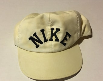 innovative design b0c7a 50c0e 90s Vintage Nike Trucker Snapback Hat   1990s Nike Check Distressed Hat -  Retro Hip Hop Clothing - FREE Shipping