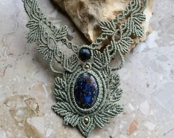 Macrame Necklace Necklace Necklace Cabochon