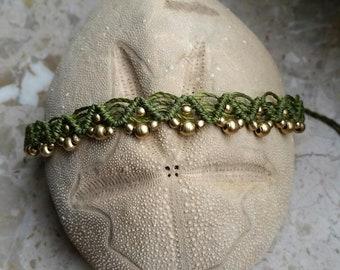 Macrame foot chain , footband, body jewelry