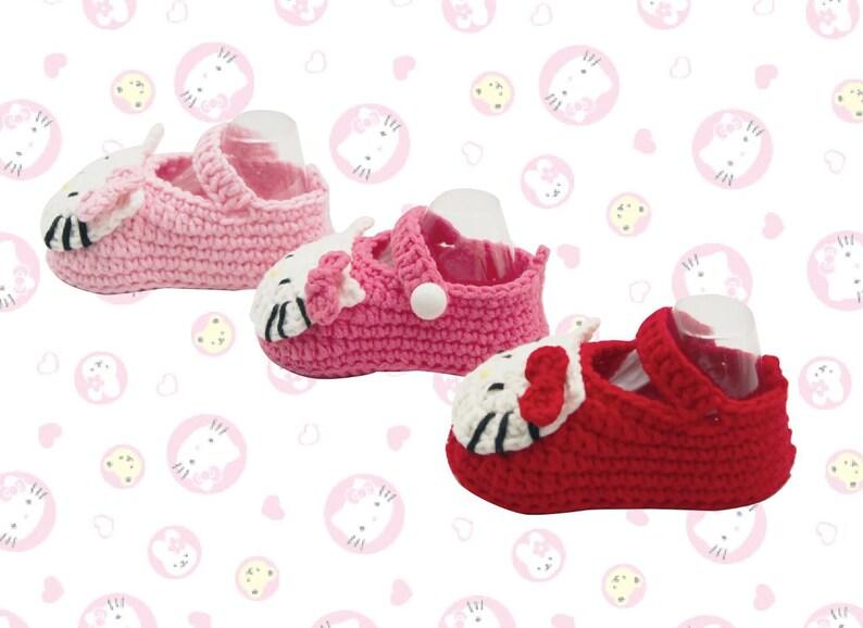c8c0fc42b Hello Kitty Baby Shoe DIY Kit/ Finished Products | Etsy