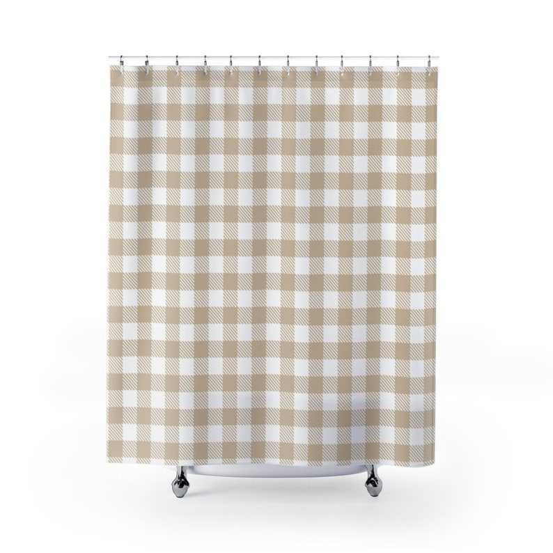 Farmhouse Shower Curtain Water Resistant Treated Polyester
