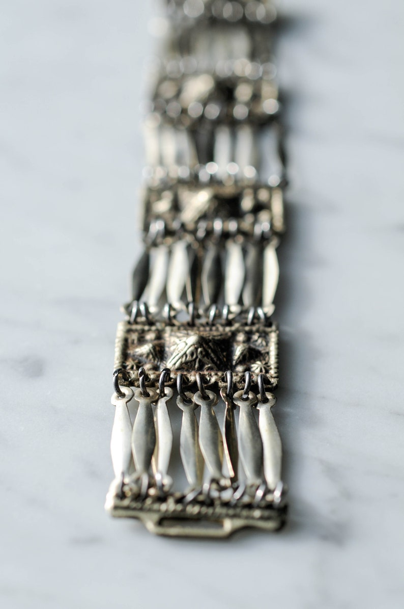 Bracelets Strict Antique Alpacca Silver Bracelet Silver