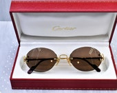 Cartier rimless vintage sunglasses fred cardin glasses C decor Scala New