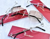 Cartier rimless vintage sunglasses fred cardin glasses Big C decor New Platine Artifact