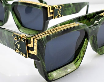 6f1395edfef Louis Vuitton Millionaires 1.1 Virgil Abloh Green Very rare (58-17)