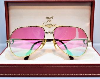 03d581fadd Lunettes de soleil Cartier Santos vintage fred cardin lunettes C décor 59/14