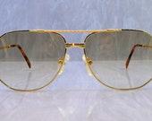 Vintage Niton Sunglasses Made in Japan 57 16 1980 39 s model 9205 eyeglasses Gold sunset lens