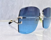Cartier rimless vintage sunglasses fred cardin glasses C decor New