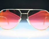 Vintage Hilton gold gaultier hilton sunglasses brand new Made in Italy 1980s