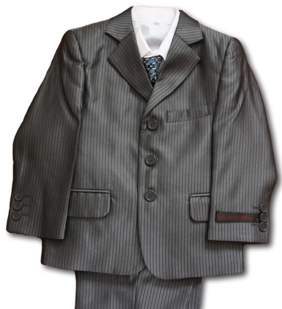 Baby Boy Christening Pageboy Formal Party Smart Suit Hat Outfit Waistcoat Grey