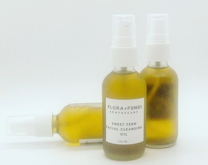 Sweet Fern Facial Cleansing Oil (Organic+Vegan+Wildcrafted)