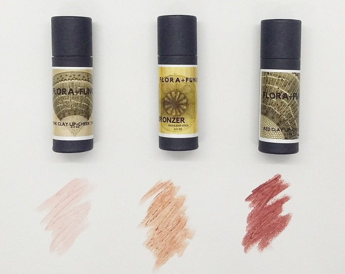 LIP+CHEEK TINTS (Pink, Bronze and Red)