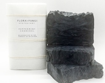 Peppermint Charcoal Soap (Organic+Vegan)