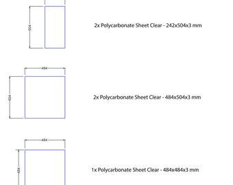 Voron V2 Enclosure 3D printer Plexiglass Panel kit