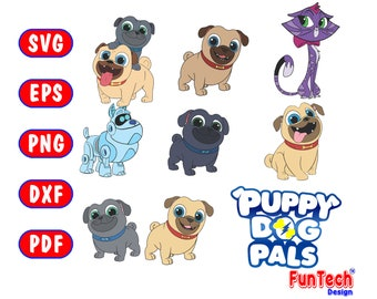 Puppy Dog Pals Svg Etsy