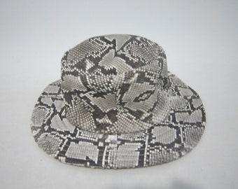 adaff5a2e83 handmade genuine Python snake Skin real Cap leather hats cowboy