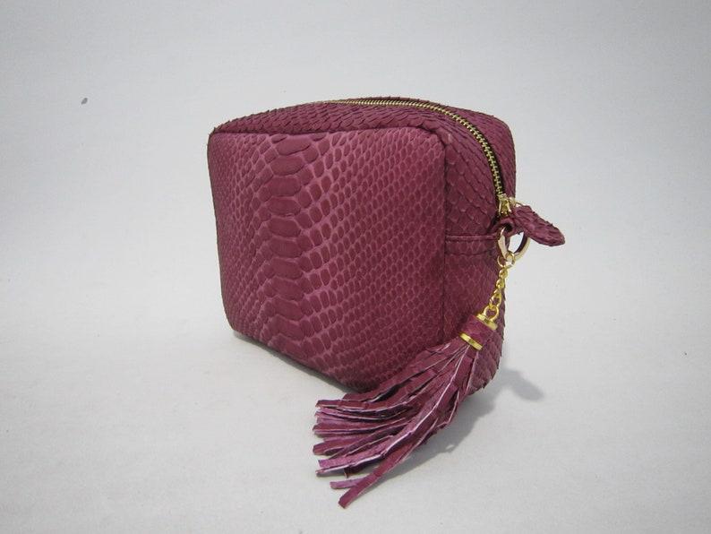 Genuine Python Snake skin Emmi handbag evenning bag real leather crossbody handmade