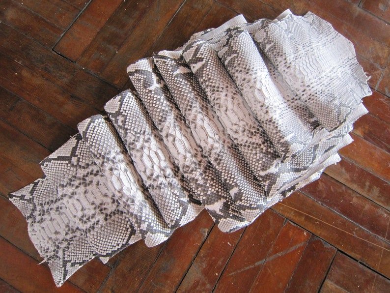 146 inch Genuine Python Hide real snake skin tanned leather Reticulated Nature color matt no N.73