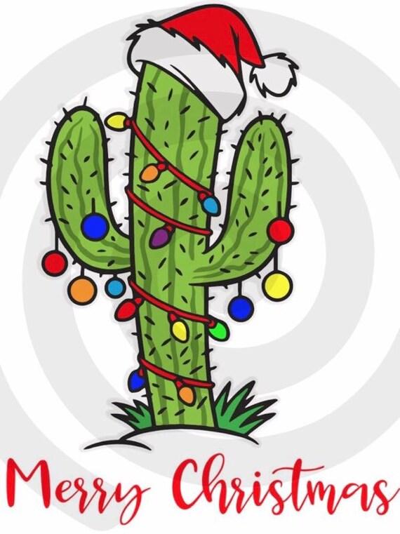 Merry Christmas cactus tree