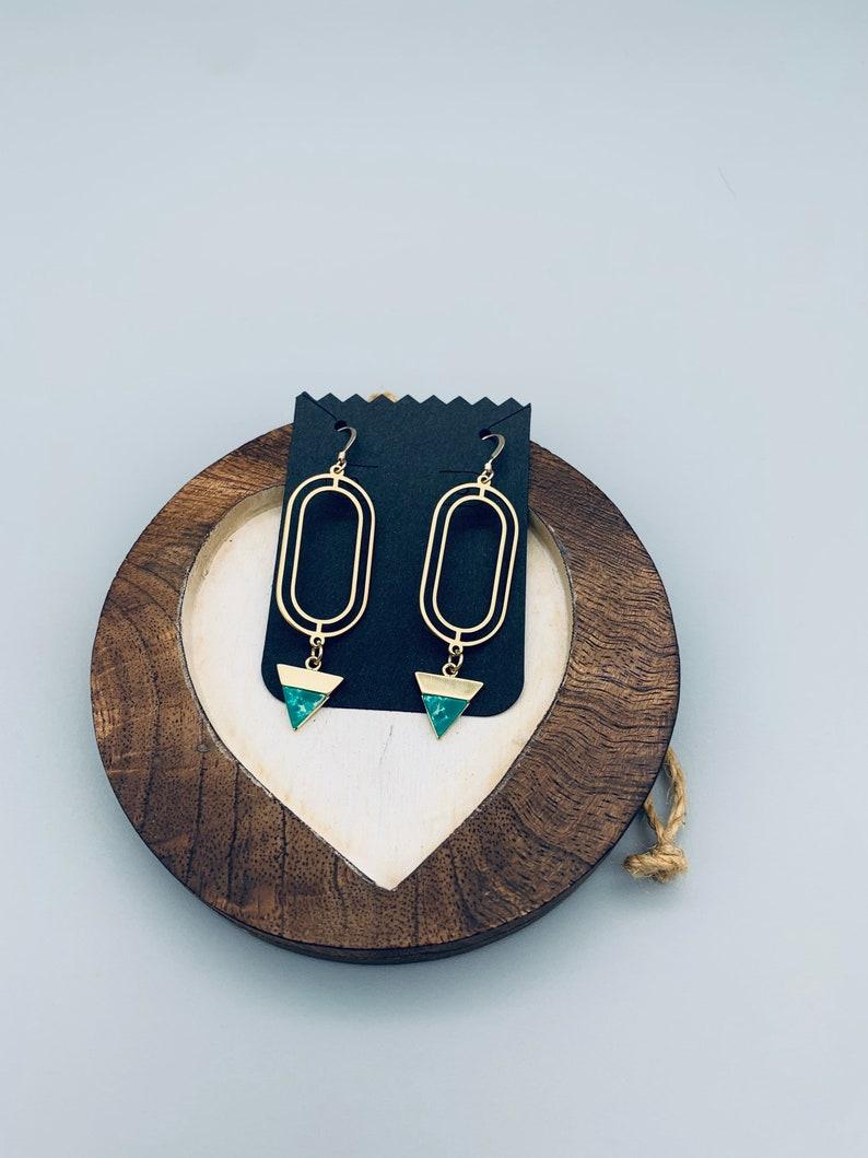Geometric gold earrings