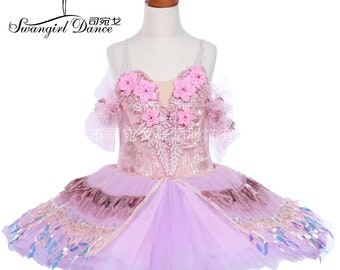 89a997a49 children lilac fairy doll performance ballet tutu adult professional  sleeping beauty pancake tutu skirt BT9242