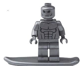 Silver Surfer custom Lego Compatible Minifigure Marvel Comics Galactus Defenders