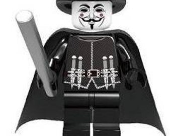 V for Vendetta Guy Fawkes custom Lego Compatible Minifigure Friday the 13th