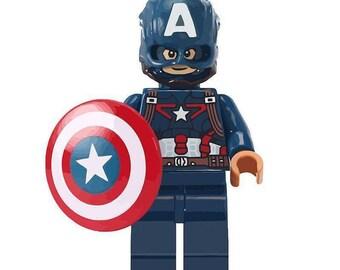 Captain America custom Lego Compatible Minifigure