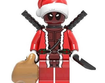 Santa Deadpool custom Lego Compatible Minifigure