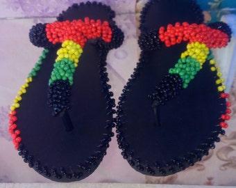 27109c52283fc Beaded slippers | Etsy