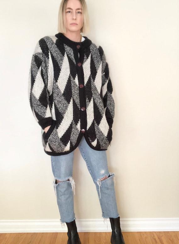 Vintage Franco Valeri Oversized Sweater Coat | Ove