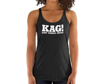 106af940e2f4c Keep America Great Women s Next Level Brand Racerback Tank Top Pro-Trump  2020 Presidential Election Wear for Patriotic Americans