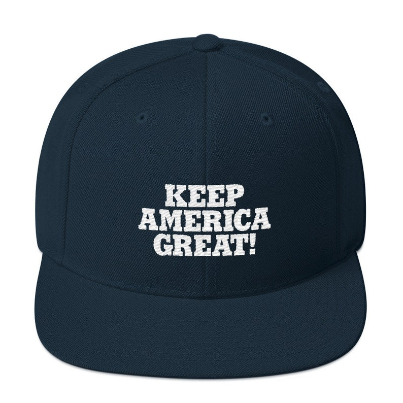 Embroidered Keep America Great Embroidered Snapback Hat Pro  107bed74f38