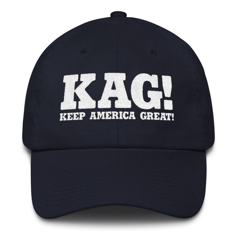 35a39ea1c32 Embroidered KAG Keep America Great American Made Cotton Cap