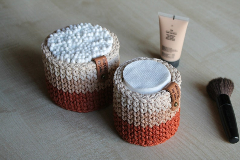Bathroom Organization Cotton Ball Holder QTip Holder Makeup image 0