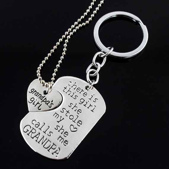 *UK Shop* Silver /'THERE IS THIS GIRL WHO STOLE MY HEART/' Keyring Set She Mum Mom